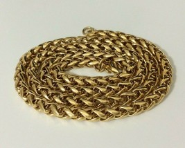 """Vintage Gold Tone Tube Rope Chain Necklace 20 inch Signed Monet 23"""" - $14.84"""