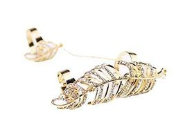 Fashion Personality Bracelet Jewelry Finger Rings And Chains, Golden Leaf