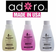 3 PCS ADORO NON PURE ACETONE NAIL POLISH REMOVER  MADE IN USA like mia s... - $7.90