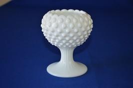 Fenton Hobnail Milk Glass Ivy Ball Vase #3726 M I - $12.87
