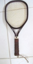 """WILSON AGGRESSOR Racket 4 1/8S Leather Handle 18 6/16"""" LONG X 7 14/16"""" WIDE - $19.94"""