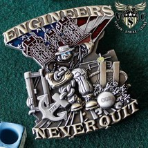 Engineers Never Quit Army Challenge Coin - $18.76