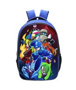 Rockman Mega Man Kid Adult Backpack Schoolbag Bookbag Daypack Blue Bag T... - $21.99