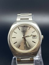 Seiko Vintage Automatic Silver Dial Date Stainless Steel Mens Watch 1970s - $343.00