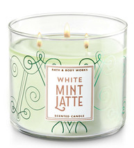 Bath & Body Works White Mint Latte Three Wick 14.5 Ounces Scented Candle - $22.49