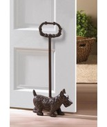 DOORSTOPS: DOGGY with HANDLE Door Stopper Cast Iron Terrier Home Decor A... - $26.95
