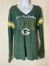 NFL Womens Size L Green Bay Packers Thermal Tee V Neck - $15.18