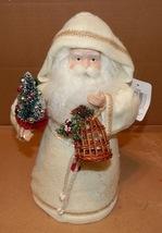 "Christmas Santa Centerpiece Cone 13"" x 8"" White Robe Holiday Gift Collin... - $7.49"