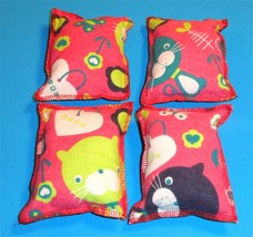 Cat Catnip Pillow Toy - Hand Made Pink Cat Patterns Rectangle - 4 ea - $5.50