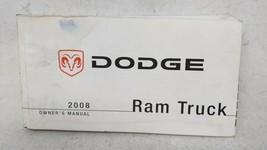 2008 Dodge Ram 1500 Owners Manual 53182 - $30.91