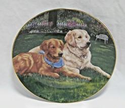 "Danbury Mint Golden Retriever Dog Peaceful Pals Collector Plate - 8"" - $17.99"
