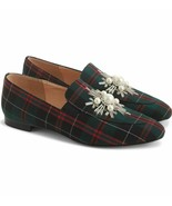 J Crew Embellished Tartan Plaid Loafers Style K2940 Size 6.5 New - $110.39