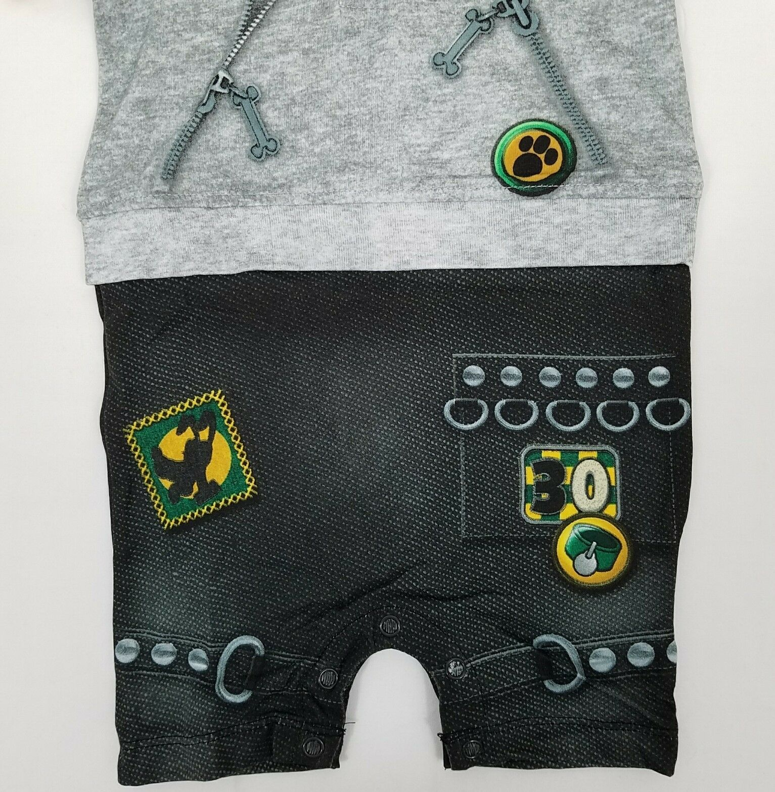 Disney Pluto Outfit 3 Months Baby Boy Authentic One Piece Hoodie Costume