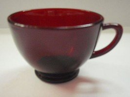 Royal Ruby Anchor Hocking Depression Glass punch snack cup - $2.96