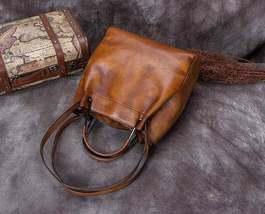 Sale, Full Grain Leather Handbag, Women Designer Shoulder Bag image 5