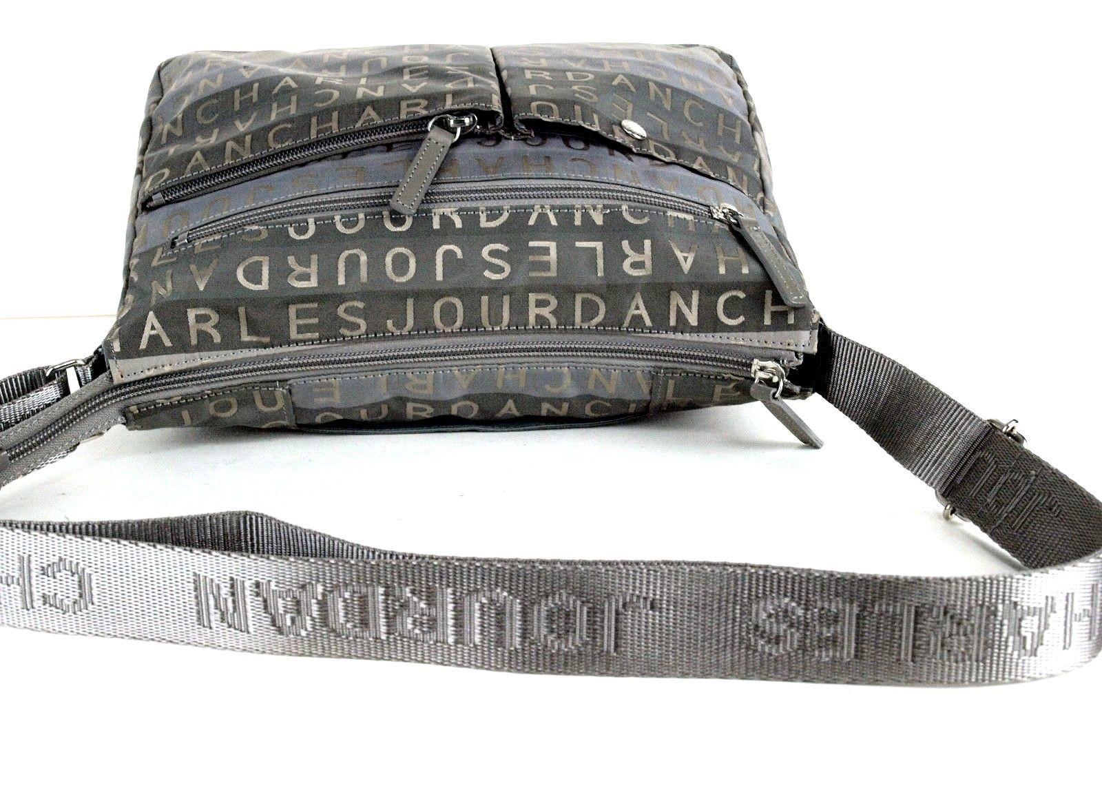 714b31fd8907 Auth CHARLES JOURDAN Paris Logo Nylon Canvas Shoulder Bag Purse Good  Condition.