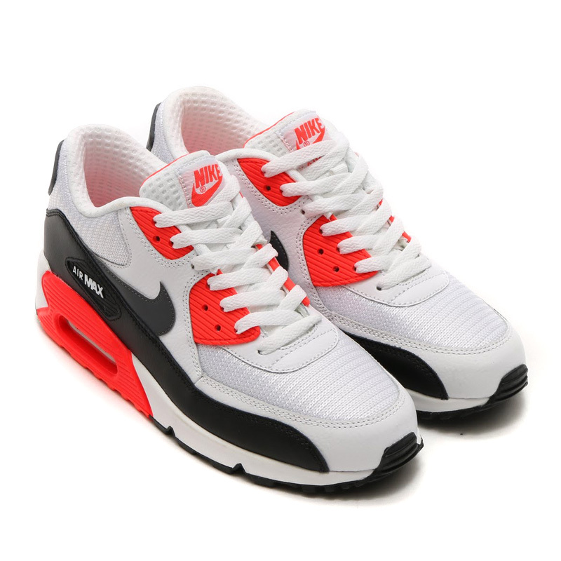 Nike Men's Air Max 90 Essential Breathable Comfort Running Shoes Bright Crimson
