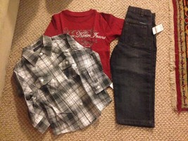 Calvin klein jeans kids toddler boys 3 pcs set as pictured 3T - $27.71