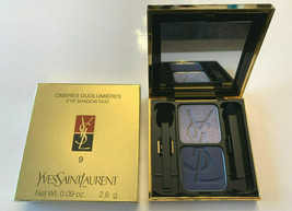 YSL EYESHADOW DUO-#9 STORMY MAVEVE / NIGHT BLUE-NIB-$ 15.83