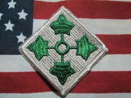 US ARMY 4TH INFANTRY DIVISION SSI COLOR PATCH M/E VIETNAM ERA PATCH - $7.00