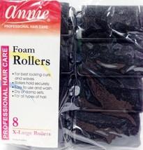 """ANNIE FOAM ROLLERS 8 X-LARGE ROLLERS #1064 BLACK 1-1/4"""" DIAMETER - $1.57"""
