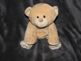 "10"" TY Beanie Pluffies 2010 WOODS Teddy BEAR Plush Stuffed Animal Lovey Tan - $19.79"