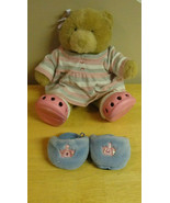Traditional Build a Bear with Striped sweather and Pink Croc shoes - $8.11