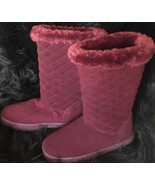 Style & Co. Womens Nickyy Wine, Size 7 M Boots genuine suede uppers - $39.55