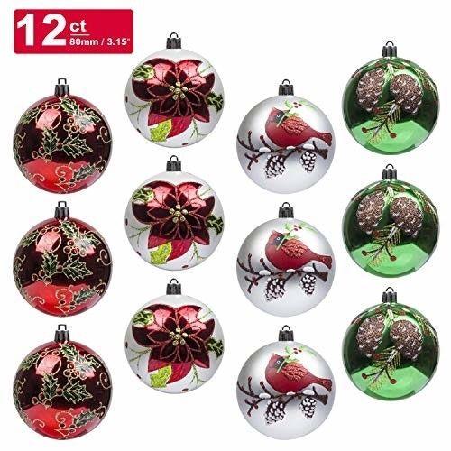 Christmas Tree Shop Connecticut: KI Store Christmas Balls Ornament 12ct Shatterproof 3.15