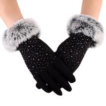 Womens Finger Gloves Winter Keep Warm Mittens Female Faux Fur Gloves Han... - $6.89+