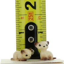 Hagen Renaker Miniature Cat Siamese Tiny Kittens Lying and Sitting Set of 2 image 2