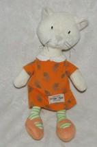 """Jelly Kitten Jellycat Cat Soft Toy 9.5"""" My Little Friends Orange Dress NEW - $39.59"""