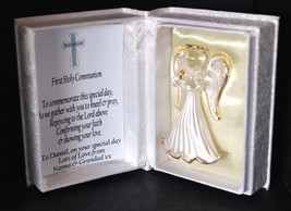 First Holy Communion Commemorate Personalised Angel gift for Boy #7 - $25.65