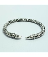 B0028 Antique Silver Colored Metal Rope Twisted Claw Tip Design Cuff Bra... - $8.49