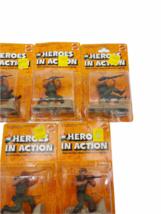 Lot (5) NOS Vintage 1974 Mattel Heroes in Action Card Figure Sealed Package image 3
