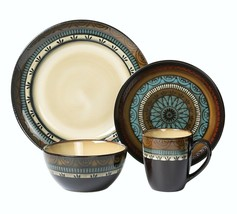 LORREN HOME TRENDS 16 PIECE GLAZED DINNERWARE MOSAIC - $121.72