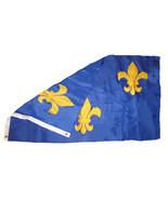 3x5 Fleur De Lis French Blue 3 Fleurs Flag 3'x5' House Banner Grommets P... - $20.00
