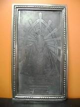 antique important Plaque engraving Virgen lujan - O.Carril (Canada) - $119.88