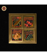 WR Summer Harvest 2015 USA Gold Foil Stamps Nice Collectible Gift for Bo... - ₹404.65 INR