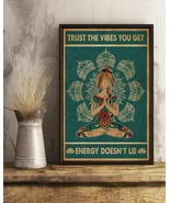 Retro Teal Trust The Vibes Yoga And Hippie, Art Prints Poster Home Decor... - $25.59+