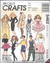 """Vintage McCall's Crafts #5462 - 11 1/2"""" Barbie & Ken Doll Clothes - UNCUT - $10.00"""