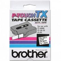 "Brother OEM TX2411 Black on White Tape (3/4"") - $39.98"