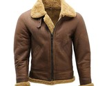 Men's Brown B3 Shearling WW2 Flying Aviator Bomber Sheepskin Leather Jacket - $3.544,27 MXN