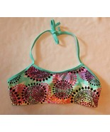 NEW Girls Breaking Waves Swimsuit Top Multicolor 50+ UPF Size: 14 NWT Re... - $14.99