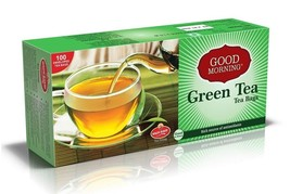 Good Morning Green Tea Bags With Envelope | 100 Tea Bags | From INDIA - $15.56
