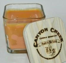 New Canyon Creek Candle Company 14oz Cube Jar Orange Blossoms Handmade! - $29.94