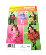 Simplicity 2794 Size Child 1 2 3 4 Bee Caterpillar Flower Tutu Costume U... - $9.99