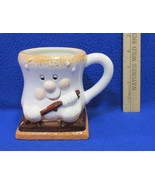 Smores Coffee Hot Chocolate Mug Cup Roasting Marshmallow Happy Face Snac... - $11.87