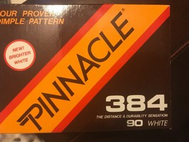 12 Brand New Pinnacle 384 Golf Balls 90 Compression White Rare Vintage - $10.30