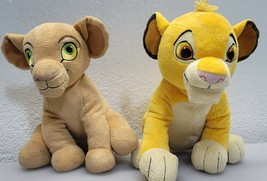 "Disney Store Simba & Nala Plush Set 10"" The Lion King Young Cubs Stuffed Animals - $23.24"